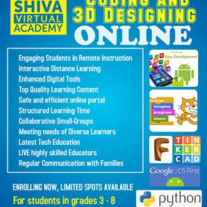 Shiva Robotics Kids Learn Coding and 3D Designing ONLINE