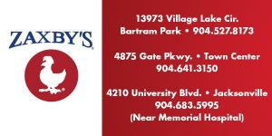 Zaxby's Bartram Park, Town Center, and University Blvd.